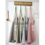 New Japanese Cotton Striped Patchwork Kitchen Aprons Dress