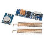 New 50pcs 433MHz 100M Wireless Remote Control Transceiver Module Kit ASK Transmitter STX882 + ASK Receiver SRX882 + 100pcs Copper Spring Antenna