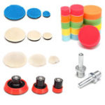 New 29pcs Polishing Pad Kit With M14 Thread Back Pad And Adapter For Polishing Waxing