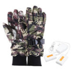 New Electric Motorcycle Gloves Heater Finger Hand Warmer Rechargeable