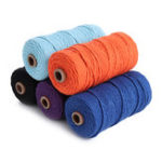 New 5 Color 3mm 100M DIY Long Macrame Colorful Cotton Twisted Cord Rope Hand Crafts String Braided Wire