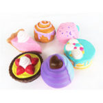 New Cake Squishy Big Dessert 10CM Donuts Ice cream 16CM Pizza Bread Jumbo Collection