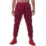 New Mens Casual Outdoor Sport Drawstring Zipper Pants