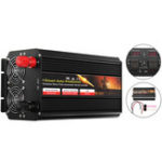 New 12V/24V To 220V 7000W Pure Sine Wave Power Inverter Dual LCD Display Converter