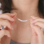 New Sweet Pendant Necklace Round Rhinestone U Shaped Pendant