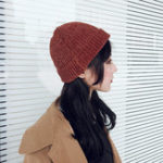 New Women Girls Chic Street Hip-Hop Hat Rolled Cuff Knit Beanie