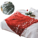 New Christmas Elk Snowflake Knitted Blankets Throw Rug Sleeping Rug Bed Sofa Throws