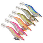 New ZANLURE SJ011 6pcs/set 80mm 11g Fishing Shrimp Luminous Jigs Artificial Squid Bait Fishing Lure