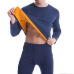 New Mens Thermal Pajama Set Velvet Thick Warm Long Johns Set