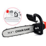 New 11.5 Inch Electric Chainsaw Stand Adapter Bracket Change Wood Cut Set For Angle Grinder