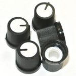 New 100Pcs White Plastic For Rotary Taper Potentiometer Hole 6mm Knob