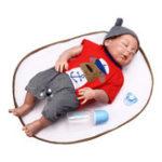 New NPK 23 Inch 58cm Reborn Baby Sleeping Soft Silicone Doll Handmade Lifeike Baby Girl Dolls Play House Toys Birthday Gift