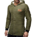 New Mens Causal Solid Color Thick Warm Hooded Coats