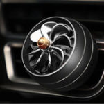 New Mini Air Force 8 Car LED Air Vent Mount Perfume Clip Fan Air Freshener Fragrance Scent Decoration