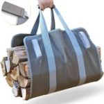 New Firewood Carrier Log Carrier Wood Carrying Bag for Fireplace 16oz Waxed Canvas