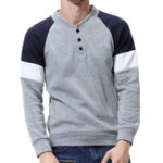 New Mens Casual Sweaters V-Neck Slim Fit Button Pullover