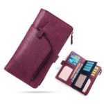 New Women Multi-function Tri-fold 16 Card Slot Long Wallet