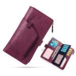 New Women Multi-function Tri-fold 16 Card Slot Long Wallet