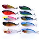New ZANLURE 10pcs/set 7.5cm 18g Plastic Jigs Wobblers Baits VIB Fishing Lure Artificial Hard Baits