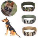 New XL Tactical Military Adjustable Dog Training Collar Nylon Leash w/Metal Buckle