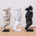 New Modern Resin Figure Statue Craft Abstract Sculpture Arts Office Home Xmas Decorations