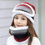 New Women Winter Warm Three-piece Knitted Set