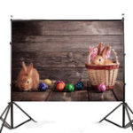 New 7x5FT Cute Rabbits Easter Eggs Photography Backdrop Studio Prop Background