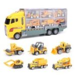 New 7PCS Large Construction Truck Excavator Digger Kid Diecast Model Toy Demolition Vehicle Car
