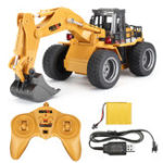 New HuiNa Toys 1530 1/18 2.4G 6CH Rc Car Alloy Excavator Engineering Vehicle W/ Light Sound Model