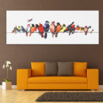 New Colorful Birds Stretched Canvas Prints Wall Paintings Art Home Decor Framed Paintings