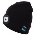 New Knitted Beanie Hat LED Headset Music Wireless Headphone Microphone with Bluetooth Function