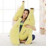 New Soft Banana Cuddly Kawaii Expression Pillow Plush Stuffed Toy