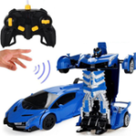 New Wei Yu Toys 1/14 2.4G Gesture Induction Radio Control Rc Car One-Key Deformation Lighting Robot