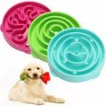 New Pet Dog Cat Interactive Slow Food Bowl Healthy Feed Dish Pet Bowl