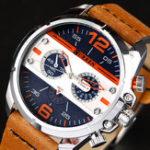 New CURREN 8259 Casual Watches Rubber Band Quartz Watch