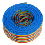 New 5M 1.27mm Pitch Ribbon Cable 26P Flat Color Rainbow Ribbon Cable Wire Rainbow Cable