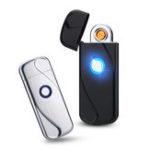 New KCASA HY-6003 Intelligent LED Light Fingerprint USB Charging Lighter Tesla Coil Lighter Induction Metal WindProof No Gas