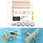 New Electric Sliding Aircraft DIY Kit Student Small Invention Manual Material Science Model Toy