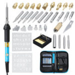 New 39Pcs 110V 220V 60W Wood Burning Pen Soldering Tool Crafts Tools Set Pyrography Kit Tips