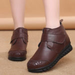 New Round Toe Genuine Leather Ankle Boots