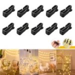 New 10PCS Gutter Hook Heavy Duty Clips for Christmas Party LED Icicle Fairy Light