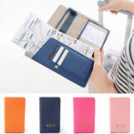 New Journey Travel Passport Holder Long Leather Wallet Purse ID Card Organizer Cover