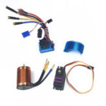 New HSP Off-Road Vehicle Brushless 3300/3930/4370KV RC Car Motor 120A ESC Servo For 1/8 1/10 RC Car