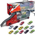 New Mylitdear 1:43 Alloy Car Model Plastic Truck 12PCS/lot MINI Metal Track Toys Kit