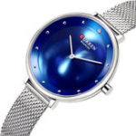 New CURREN 9029 Casual Style Mesh Stainless Steel Women Watch