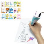 New 15PCS 3D Printing Pen Double-sided Papers + Transparent Template Copy Graffiti Board Suit for Kids