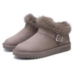 New Winter Snow Boots Fluffy Warm Women Ankle Boots
