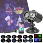 New LED Laser Dual Projector Stage Light Waterproof Christmas Party Landscape Lamp AC100-240V