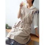 New Japanese Sleeveless Ruffle Solid Vintage Apron Dress