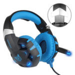 New K2 3.5mm Gaming LED Light Headphone USB 7.1 Stereo Surround Sound Computer Headset Headband with Mic
